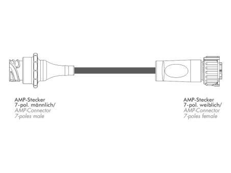 Rallonge câble connecteur 7 pôles AMP
